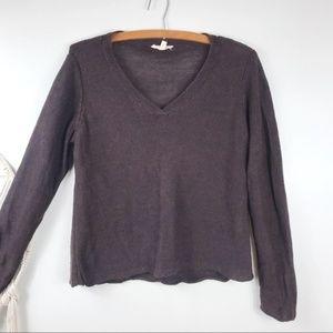 Eileen Fisher Hemp Brown Knit Sweater